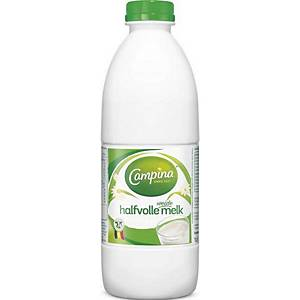 Campina milk half-skimmed pet 1L - pack of 6