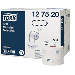 Papier toilette Tork Twin Mid-Size Soft, 2 épaisseurs, 90 m, les 27 rouleaux