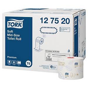 Toalettpapir Tork T6 2-lags Premium Kompakt, kartong à 27 ruller