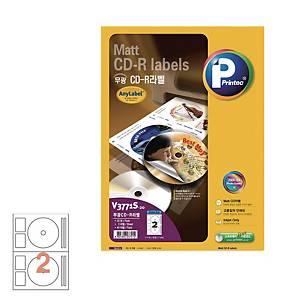 PK20 PRINTEC V3771S INKJET CD LABEL 41MM