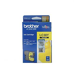 Brother LC38Y Inkjet Cartridge - Yellow