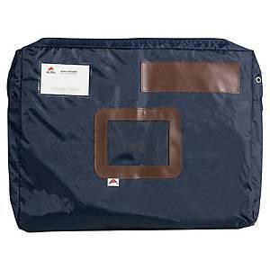 Saco de correio com fole de 50 mm Alba - 300 x 420 mm - azul marinho