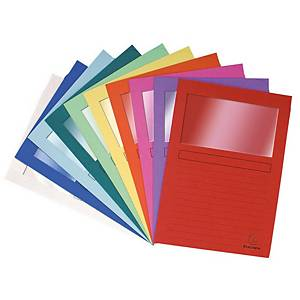 Exacompta 50100E Forever L-folder A4 with window assorted colours - pack of 100
