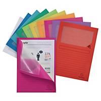 Cartelletta con finestra Exacompta cartoncino 120 g/mq colori assortiti-conf.100