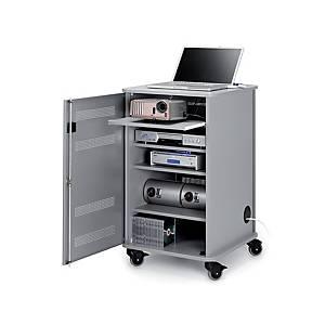Mobilná skriňka pre multimediálné prístroje Nobo, sivá