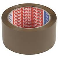 Cinta adhesiva de embalaje Tesa - 50 mm x 132 m - marrón