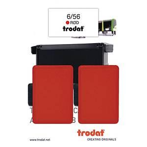 Stempelpude Trodat 6/56, rød, pakke a 2 stk.