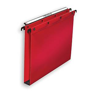 Elba Polypro Ultimate Suspension Files Foolscap Red 30mm Base Heavy Duty Box 25