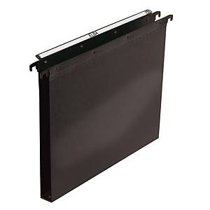 Elba Polypro Ultimate Suspension File Foolscap Black 30mm Base Heavy Duty Box 25