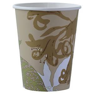 Gobelet en carton et PLA Duni ecoecho - 24 cl - simple paroi  - paquet de 50