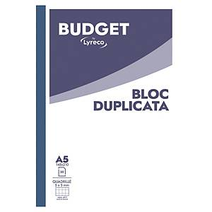 Carnet autocopiant Lyreco Budget - A5 - non imprimé - 2 plis