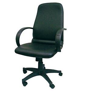 SAKURA PU HIGH-BACK CHAIR W/ARM Black