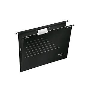 Hængemappe Leitz Alpha Active, med elastik, A4, sort, pakke a 5 stk.