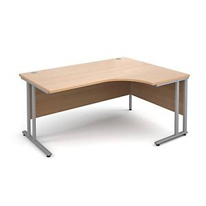 Modular C Frame Radial Desk Right Hand Beech