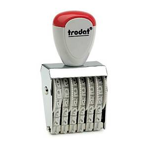 TRODAT TR-1546 Rubber Stamp Number 6 Digits 4mm