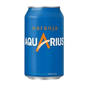 Pack de 24 latas de Aquarius laranja - 33 cl