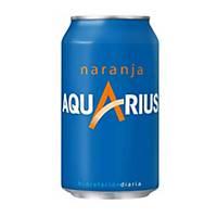 Pack de 24 latas de Aquarius naranja - 33 cl