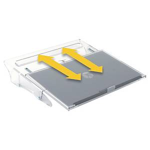 Porte-documents Bakker Elkhuizen FlexDesk 640 coulissant - plexiglas transparent