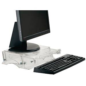 Ergo 4000 monitor standaard adjustable height transparant + document holder