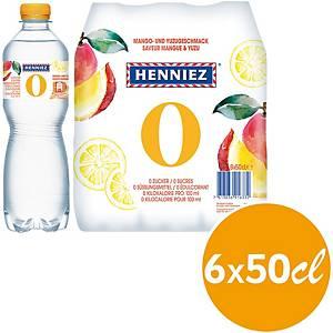 Mineralwasser Henniez 0 Kcal Mango&Yuzu, 50 cl, Packung à 6 Flaschen