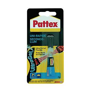 Colle instantanée Pattex Ultra Gel, tube de 3 g