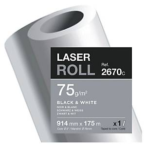 Papier pour copieur Clairefontaine - 75 g - rouleau 914 mm x 175 m