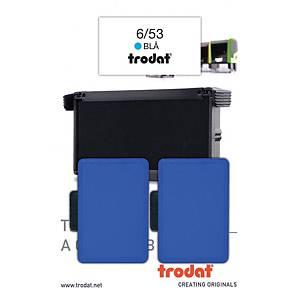 Stempelpude Trodat 6/53, blå, pakke a 2 stk.