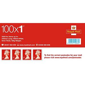 1st Class Postage Stamps - Pack of 100