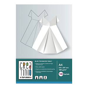Blok techniczny A4, 10 kartek, 170g/m2