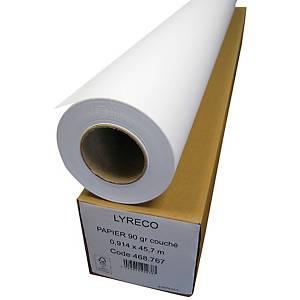 Papier couché mat - 90 g - blanc - rouleau 914 mm x 45 m