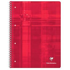 Collegeblock Clairefontaine 8252C, A4, kariert, 90g, 4fach gelocht, 80 Blatt