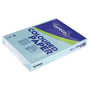 Lyreco coloured paper A3 80g blue - pack of 500 sheets