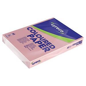 Resma de 500 folhas de papel Lyreco - A3 - 80 g/m² - rosa pastel