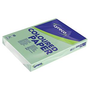 Carta colorata Lyreco A3 80 g/mq verde pastello - risma 500 fogli