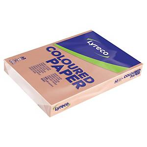 LYRECO PASTEL COLOURED PAPER A3 80G SALMON - REAM OF 500 SHEETS