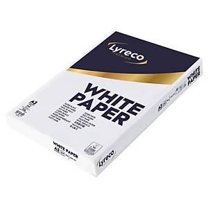 LYRECO PREMIUM WHITE A3 PAPER 80GSM - BOX OF 3 REAMS (1500 SHEETS OF PAPER)