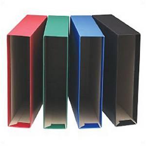 Caixa para pasta de arquivo Grafoplás - fólio - lombada 80 mm - vermelho