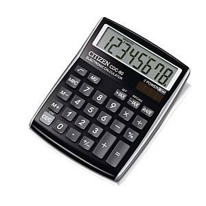 Citizen CDC80 rekenmachine voor kantoor, zwart, 8 cijfers
