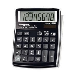 Calculatrice de bureau Citizen CDC-80, affichage de 8chiffres, noir
