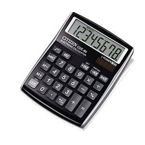 Citizen CDC80 desk calculator compact black - 8 numbers