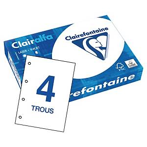 Papier blanc A4 Clairefontaine Clairalfa - 80 g - perforé - ramette 500 feuilles