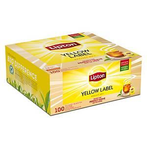 Thé Lipton Yellow Label, la boîte de 100 sachets de thé