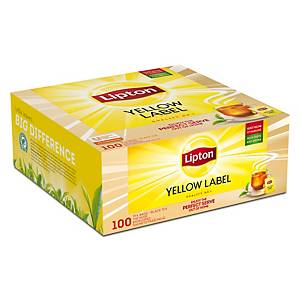 Lipton Yellow Label thee, doos van 100 theezakjes