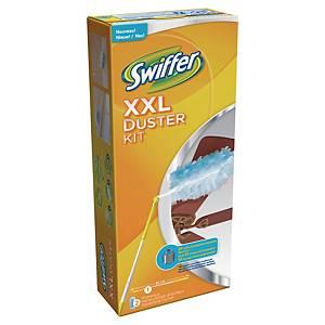 Kit dém. avec attr.-pous. XXL et 2 chif. anti-pouss. Swiffer, 120x150mm, blc