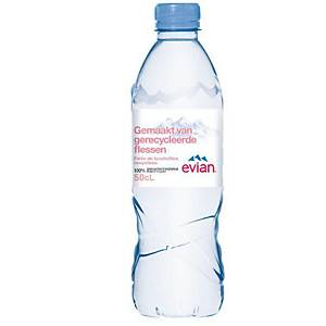 Eau minérale Evian, le paquet de 24 bouteilles de 0,5 l