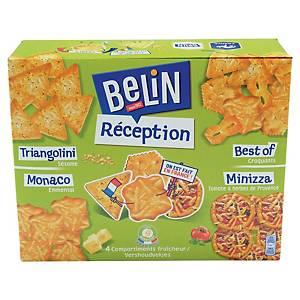 Assortiment de biscuits apéritifs crackers Belin Réception - boîte de 380 g
