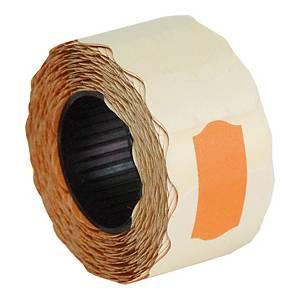 Etykiety do metkownic 26 x 12 mm, pomarańczowe, fala, rolka 800 sztuk