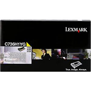 Lexmark C736H1YG Laser Toner Cartridge Yellow