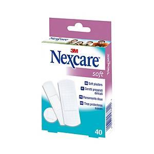 Heftpflaster Nexcare Soft, assortiert, Packung à 40 Stück