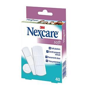 Cerotti per pelli sensibili 3M Nexcare™ soft assortiti - conf. 40